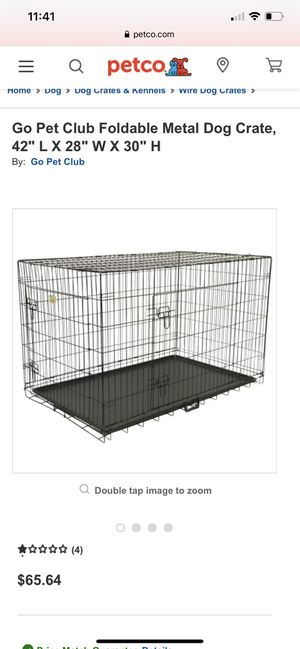 Metal Dog crate for Sale in Glendale, CA