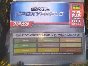 RUST-OLEUM EPOXY SHIELD 2.5 GARAGE FLOOR COATING KIT for Sale in Tacoma, WA