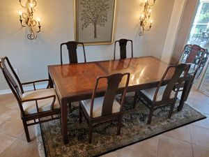 Oriental Style Dining Room Table Set and China Cabinet for Sale in Tampa, FL