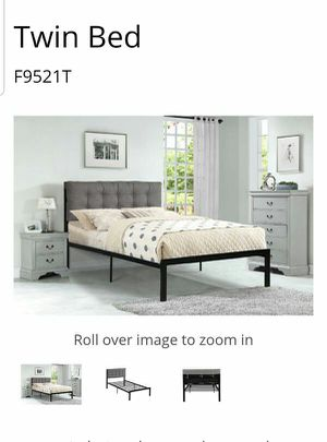 BRAND NEW TWIN BED AVAILABLE IN FULL ADD CHEST NIGHTSTAND AND ADD MATTRESS AVAILABLE for Sale in Pomona, CA