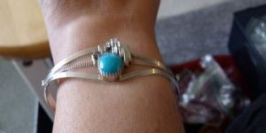 Navajo Silver and Turqouise Bracelet Sz8 to 9 for Sale in Columbus, OH