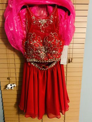 *NEW W TAGS* HOMECOMING / PARTY 2-Piece Dress Rhinestones+Red for Sale in Orland Park, IL