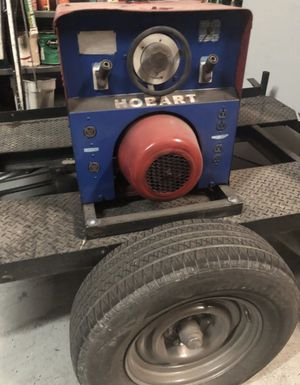 Welder /gas included trailer and tool box power generator for Sale in Las Vegas, NV