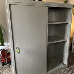 Metal Storage Cabinet With Shelves for Sale in Portland, OR