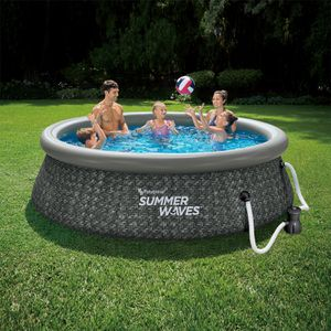 Summer Waves 8ft x 2.5ft Above Ground Inflatable Outdoor Swimming Pool with Pump for Sale in Portland, OR