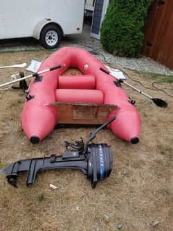 Achilles Inflatable boat with 4.5 mercury Motor for Sale in Gig Harbor,  WA