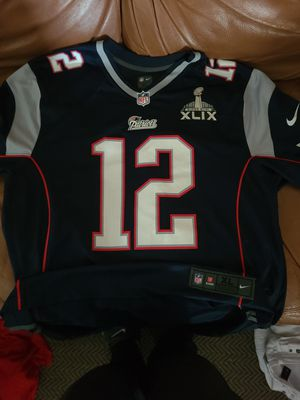 3 Tom Brady Patriots Jerseys with Super Bowl Patches for Sale in Las Vegas, NV