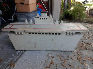 Wooden ship toy chest for Sale in Tampa, FL