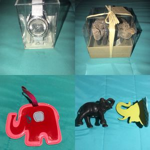 Brand new Elephant collectibles, wall decoration, ornaments, statue, luggage tag and watch. for Sale in San Diego, CA