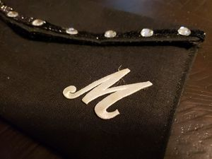 """Black """"M"""" clutch embellished with rhinestones for Sale in Fort Smith, AR"""