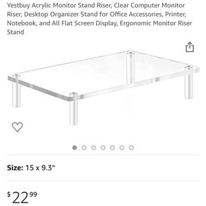 Acrylic Tabletop Riser Stand for Sale in Hesperia, CA