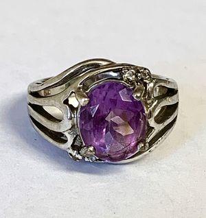 Silver Amethyst gemstone ring for Sale in Phoenix, AZ