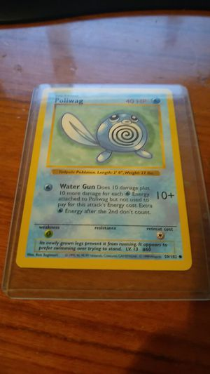 Basic Pokemon Poliwag Shadowless 59/102 Rare Card Mint for Sale in Monterey Park, CA