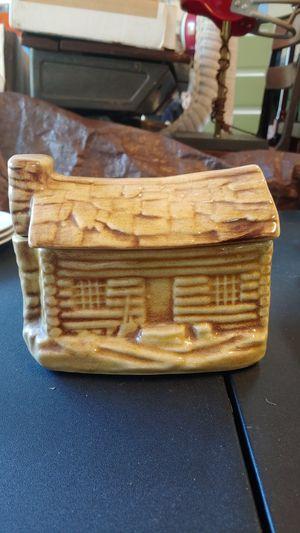Vintage log cabin biscuit jar for Sale in Greenville, SC
