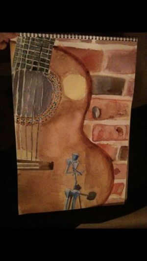 Water color painting of guitar for Sale in Washington, DC