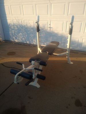 Olympic Bench with Multiple Attachments for Sale in Aurora, IL
