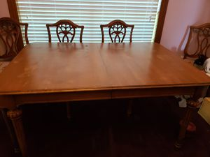Antique table and 6 chairs for Sale in Fort Worth, TX