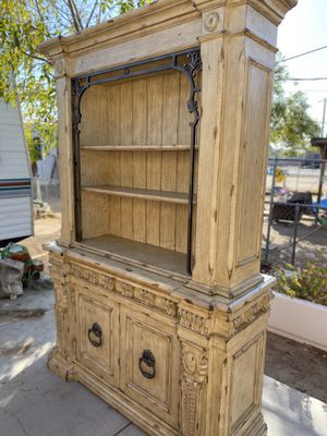 Rustic China Hutch with dining table /chairs for Sale in Phoenix, AZ