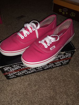 Hot pink vans. Size 7 for Sale in Houston, TX