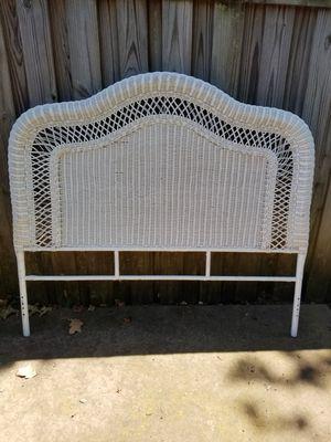 Wicker headboard Queen size for Sale in Tyler, TX