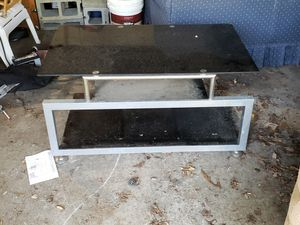 TV stand entertainment center glass shelves for Sale in Arnold, MD