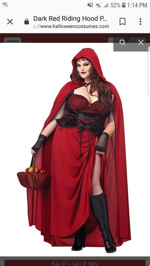 Plus size red riding hood costume for Sale in Willowick, OH
