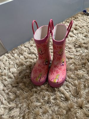 Princess raining boots like new for Sale in Boca Raton, FL