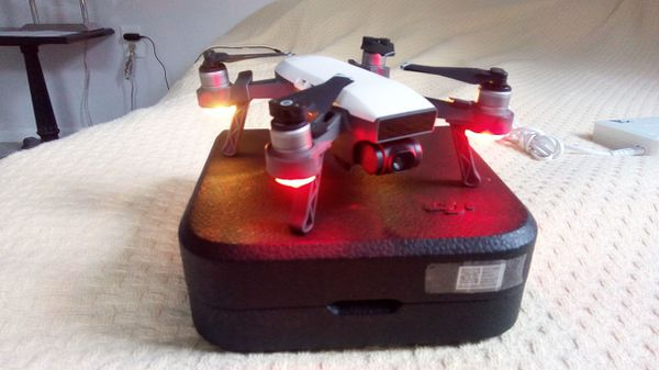 DJI Spark with 3 batteries and advanced charger