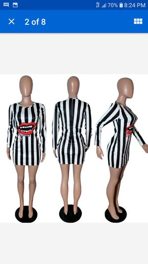 Longsleeve dress with black&white stripes for Sale in Cleveland, OH