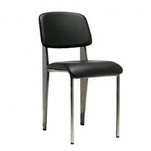 BRASS METAL frame High End Designer Restaurant Side Chair Black Vinyl Seat And Back MODIST. for Sale in South El Monte, CA