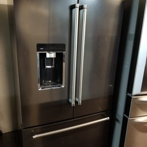 Kitchen aid Refrigerator 3 Door Black stainless for Sale in San Antonio, TX