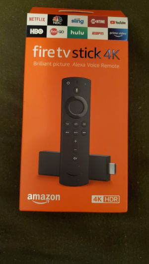 Amazon Fire TV with 4K Ultra HD Streaming Media Player and Alexa Voice Remote (2nd Generation), Black for Sale in Fresno, CA