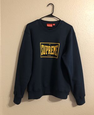 Supreme Warm Up Crewneck SS19 Navy Medium for Sale in Tempe, AZ