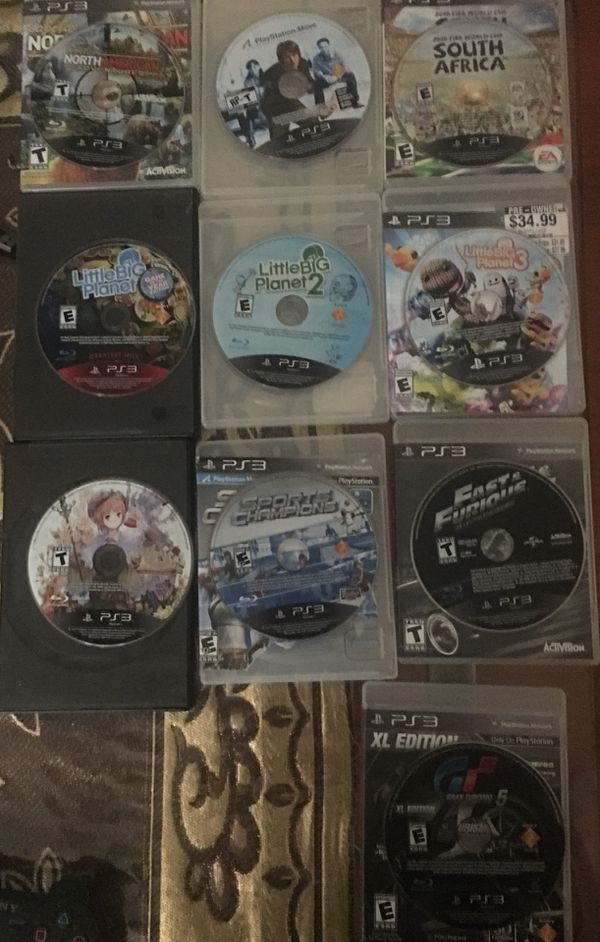 PlayStation 3 with 10 Games, 4 Controllers and PlayStation Move