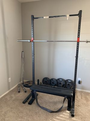 Squat Rack and Bench for Sale in Phoenix, AZ