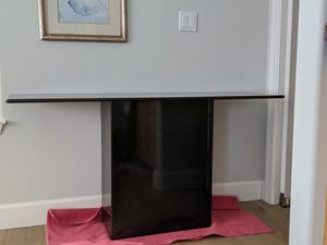 Polished black granite console table for Sale in Los Altos, CA