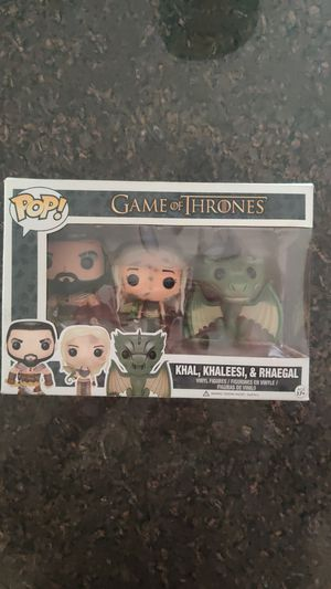 Funko Pop Game of Thrones Khal, Khaleesi, Rhaegal for Sale in Chicago, IL