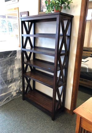 Dark Wood Bookcase for Sale in Tacoma, WA