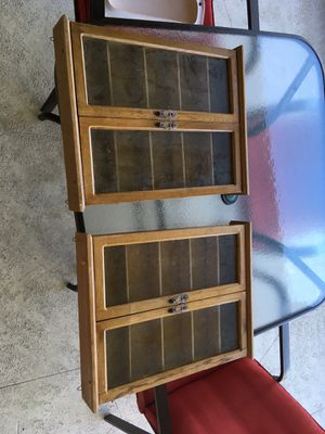 Two small wall cabinet knickknack shelf collectors shelf for Sale in Margate, FL