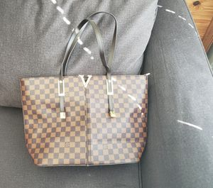 Brown Checked Tote for Sale in Watauga, TX