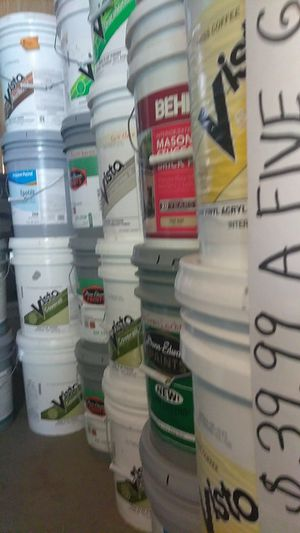 Paint pinturas perronas, exterior flat paint from 39.99a five gallon bucket muchos colores bonitos pa escoger leer abajo for Sale in Colton, CA