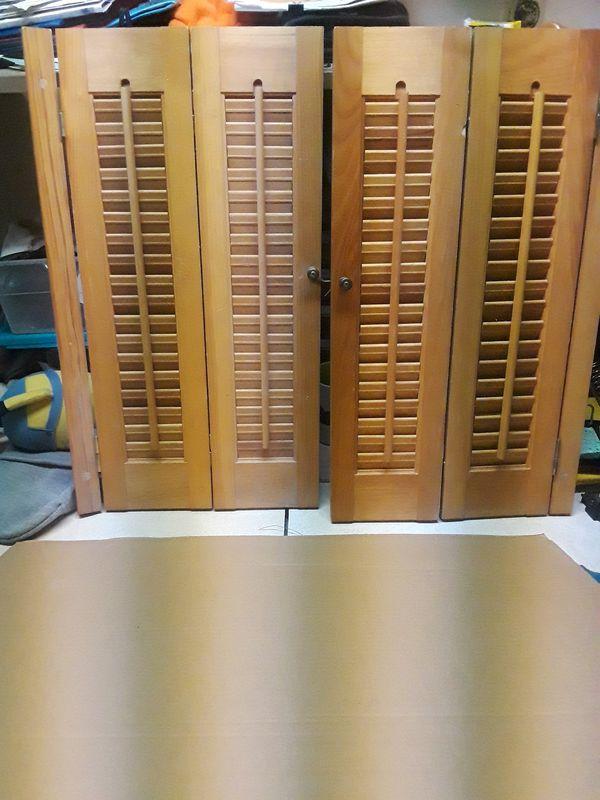 Indoor shutters each measure 13.5in