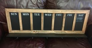 "NEW Chalk Board Frame w/ 5 hooks 14""X 36"" (3ft.) for Sale in Brownsville, TX"