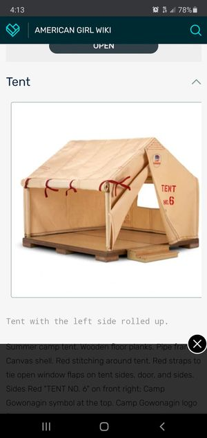 American girl Molly's tent vintage brand new in box for Sale in Roselle, NJ
