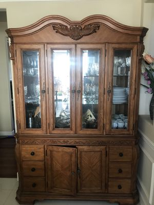 Beautiful Dining Table and China Cabinet For Sale! for Sale in Seattle, WA