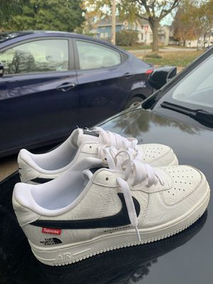 Nike Air Force 1 by FOFDESIGNS SUPREME x THE NORTH FACE size 8 for Sale in Appleton, WI