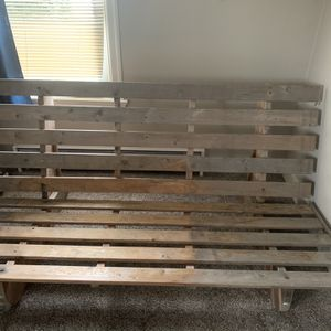 Wooden Futon Frame Queen Size for Sale in Bonney Lake, WA