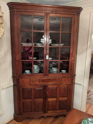 Gorgeous antique corner cabinet for Sale in Virginia Beach, VA