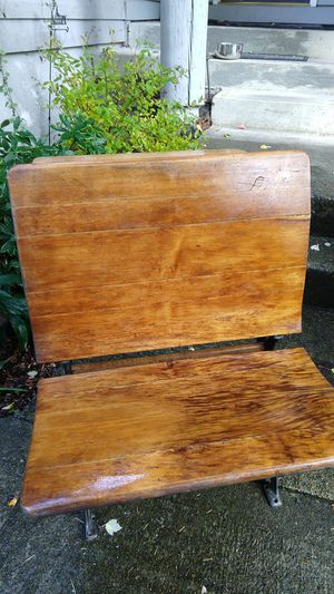 Old fashioned Wood and Iron School Desk for Sale in Lacey, WA
