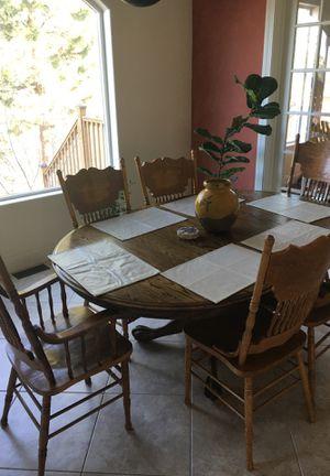 Beautiful real wood dining table for Sale in Spokane, WA